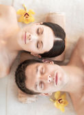 Casal no spa — Foto Stock