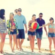 Group of friends having fun on the beach — Stock Photo #45169261