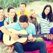 Group of friends having fun on the beach — Stock Photo #45171173