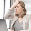 Stressed woman with laptop computer — Stock Photo #45289215