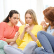 Two teenage girls comforting another after breakup — Stock Photo #47015303