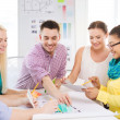 Smiling interior designers working in office — Stock Photo #47227397