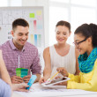 Smiling interior designers working in office — Stock Photo #47227459