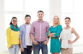 Happy creative team in office — Stock Photo