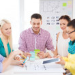 Smiling interior designers working in office — Stock Photo #47355327