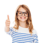 Little girl with black eyeglasses — Foto Stock