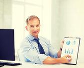 Kaufmann-ergebnis-graphen und diagramme — Stockfoto