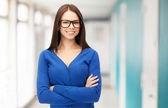 Businesswoman or student at school or office — Foto de Stock