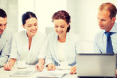 Business team having discussion in office — Stock Photo