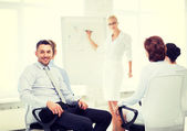 Businessman on business meeting in office — Stock Photo