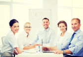 Business team having meeting in office — Foto de Stock