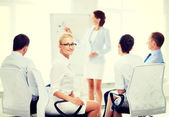 Businesswoman on business meeting in office — Stock Photo