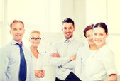 Friendly business team in office — Stock Photo