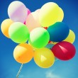 Lots of colorful balloons in the sky — Stock Photo #48940857