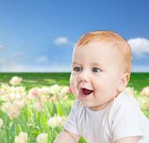 Bebê sorrindo — Foto Stock