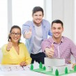 Smiling architects working in office — Stock Photo #48951439