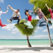 Group of teenagers jumping — Stock Photo #49331087