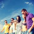 Group of friends having fun on the beach — Stock Photo #49437633