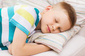 Little boy sleeping at home — Stock Photo