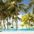 Swimming pool on tropical beach — Stock Photo #49611807