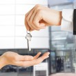 Man and woman with house keys — Stock Photo #49708137