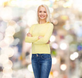 Smiling girl in casual clothes — Stock Photo