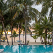 Swimming pool on tropical beach — Stock Photo #50157137