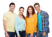 Group of smiling teenagers — Stock Photo