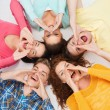 Group of smiling teenagers — Stock Photo #51140271