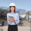 Businesswoman in white helmet — Stock Photo #51160425