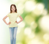 Smiling little girl in casual clothes — Stock Photo