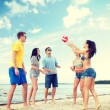 Group of friends having fun on the beach — Stock Photo #51252873