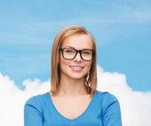 Smiling woman in eyeglasses — Stock Photo
