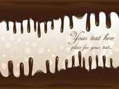 Chocolate Vector Banner — Stock Vector