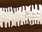 Chocolate Vector Banner — Stock Vector