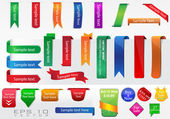Vector Ribbons Collection — Stock Vector