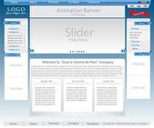 Vector Website Template — Stock Vector