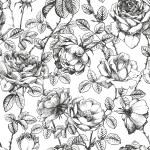 Rose pattern white — Stock Vector #13947768