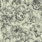 Rose pattern blue — Wektor stockowy