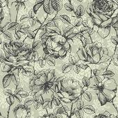 Roses en jacquard bleu — Vecteur