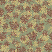 Flower pattern green — Stock Vector