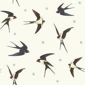 Muster mit schwalben — Stockvektor