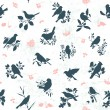 Vector de stock : Songbirds seamless