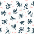 Songbirds seamless — Vector de stock