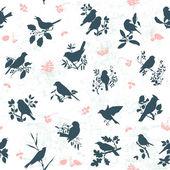 Songbirds seamless — Stock Vector