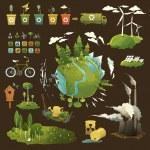 Green planet — Stock Vector #28814973
