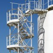 Stock Photo: White storage tank with stairs