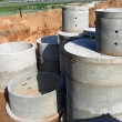 Concrete rings for water or draw-wells — Stock Photo #13185116