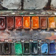 Watercolor paint box - Stock Photo