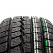 Stock Photo: New tire tread